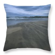 England, Lindisfarne Storm Approaching Throw Pillow