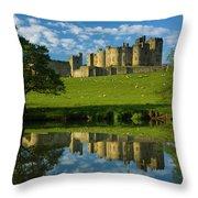 England, Northumberland, Alnwick Castle Throw Pillow