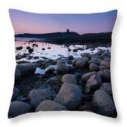 England, Northumberland, Embleton Bay. Throw Pillow