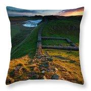 England, Northumberland, Hadrians Wall Throw Pillow