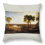 England, Richmond Hill, On The Prince Regent's Birthday Throw Pillow