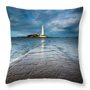 England, Tyne And Wear, Whitley Bay  Throw Pillow