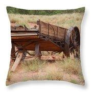 Engles Wagon Throw Pillow