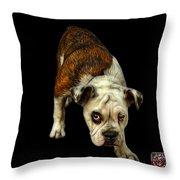 English Bulldog Dog Art - 1368 - Bb Throw Pillow