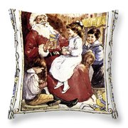 English Christmas Card Throw Pillow by Granger