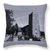 English Churchyard Throw Pillow
