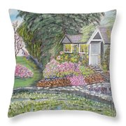 English Cottage Throw Pillow