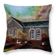 English Cottage In The Autumn Throw Pillow