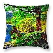 English Country Lake 1d Throw Pillow
