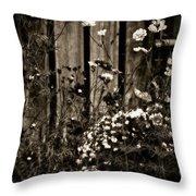 English Garden Noir Throw Pillow