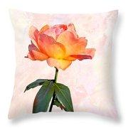English Garden Rose Throw Pillow