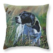 English Pointer In The Field Throw Pillow