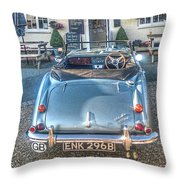 English Pub English Car Throw Pillow