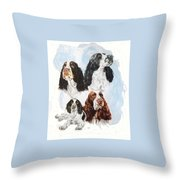 English Springer Spaniel W/ghost Throw Pillow