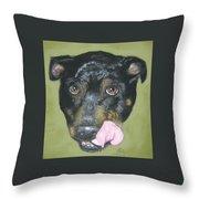 English Staffordshire Bull Terrier  Throw Pillow