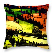 English Summer Fields Throw Pillow