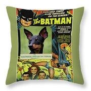 English Toy Terrier Art Canvas Print - Batman Movie Poster Throw Pillow