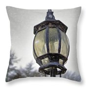 English Victorian Style Park Lamp Throw Pillow