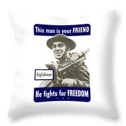 Englishman - This Man Is Your Friend Throw Pillow
