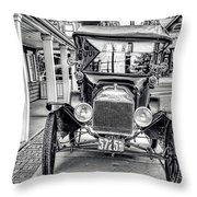 Englishtown New Jersey Antique Classic Car Throw Pillow