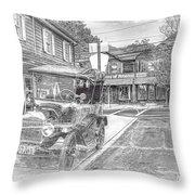 Englishtown New Jersey Classic Car Throw Pillow