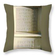 Engraved Throw Pillow