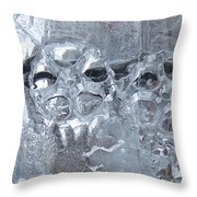 Engrenage De Glace / Iced Gear Throw Pillow