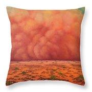 Engulfing Winds Throw Pillow