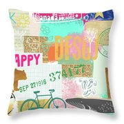 Enjoy Every Moment Collage Throw Pillow