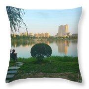Enjoy The Sunset  Throw Pillow