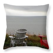 Red, White And View Throw Pillow