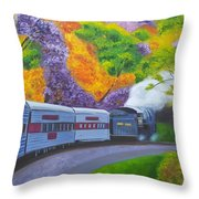 'enjoy Your Journey As Much As Your Destination' Throw Pillow