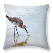 Enjoying A Meal Throw Pillow by Todd Blanchard