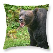 Enjoying Breakfast Throw Pillow