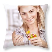 Enjoying Healthy Nutrition Throw Pillow