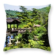 Enjoying The Garden Throw Pillow