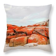 Enjoying The Moment Bay Of Fires Throw Pillow