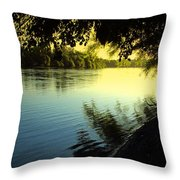 Enjoying The Scenic Beauty Of The Sacramento River Throw Pillow