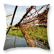 Enkhuizen Windmill And Nets Throw Pillow