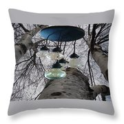 Enlightened Birch Trees Throw Pillow