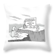 Enlightenment And Pizza Throw Pillow