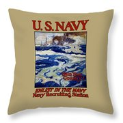Enlist In The Navy - Help Your Country Throw Pillow