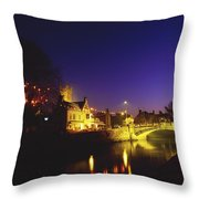 Ennis, Co Clare, Ireland Bridge Over Throw Pillow