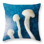 Enokitake Mushrooms Throw Pillow