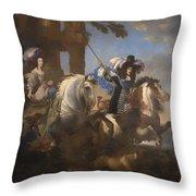Enrichetta Adelaide Di Savoia E Ferdinando Di Baviera Throw Pillow