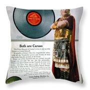 Enrico Caruso (1873-1921) Throw Pillow