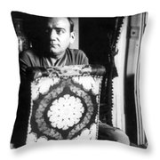 Enrico Caruso, Last Known Photo, 1921 Throw Pillow