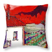 Enrico's View Throw Pillow