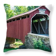 Enslow/turkey Tail Covered Bridge Throw Pillow