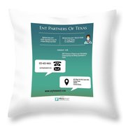 Ent Partners Of Texas Throw Pillow